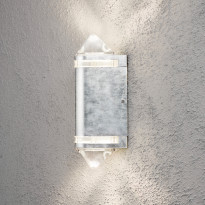 Seinävalaisin Konstsmide Modena 7519-320, 130x115x350mm, ylös/alas, kartiolinssillä, sinkitty teräs