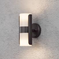 Seinävalaisin Modena 7522-750, 75x130x195mm, ylös/alas, musta/opaali
