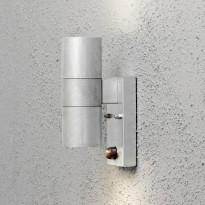 Seinävalaisin Konstsmide Modena 7542-320, 65x110x200mm, ylös/alas, liiketunnistimella, sinkitty teräs