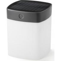 LED-aurinkokennovalaisin Konstsmide Assisi Solar, 120x120x145mm, harmaa