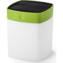 LED-aurinkokennovalaisin Konstsmide Assisi Solar, 120x120x145mm, vihreä