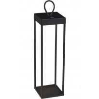 LED-lyhtyvalaisin Konstsmide Ravello, 50cm, ladattava, musta