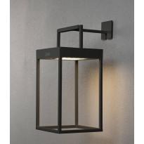 LED-lyhtyvalaisin Konstsmide Portofino, aurinkokennolla, musta