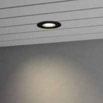 LED-alasvalo Konstsmide 7875-750, Ø95mm, IP44, musta, 6W
