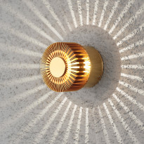 LED-seinävalaisin Konstsmide Monza 7900-800, Ø90x80mm, messinki