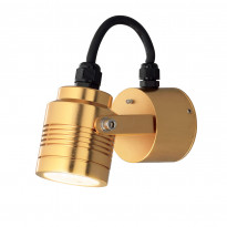 LED-seinävalaisin Konstsmide Monza 7903-800, 80x130x80mm, messinki