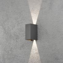 LED-seinävalaisin Konstsmide Cremona 7940-370, 80x110x170mm, ylös/alas, antrasiitti