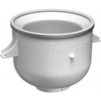 Yleiskoneen kulho jäätelön valmistukseen KitchenAid, valkoinen