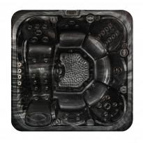 Ulkoporeallas KuohuSpa Pyörre, 6 hlöä, 51 suutinta, musta/musta