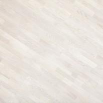 Parketti Kymppi-Lattiat Tammi Classic 3-säleinen, valkoinen mattalakka, 14x192x2200mm
