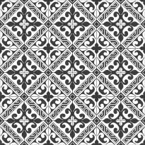 Kuviolaatta Kymppi-Lattiat History Jugend Genova Black, himmeä, 250x250mm