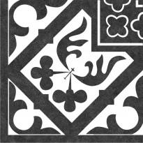 Kuviolaatta Kymppi-Lattiat History Jugend Oldenburg Black Angulo, himmeä, 250x250mm