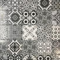 Kuviolaatta Kymppi-Lattiat Troya Black&White, matta, 200x200mm
