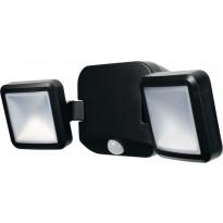 LED-seinävalaisin Ledvance Battery Spotlight Double paristokäyttöinen, musta, liiketunnistin