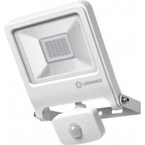 LED-valonheitin Ledvance Endura Flood 30W, 3000K, valkoinen, liiketunnistin