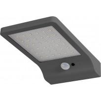 LED-seinävalaisin Ledvance Door Solar paristokäyttöinen, hopea, liiketunnistin