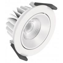 LED-alasvalo Ledvance Adjust, Ø90mm, 4000K, valkoinen