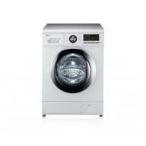Edestä täytettävä pesukone LG F1296NDA3, 6kg, 1200 rpm, valkoinen
