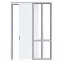 Liukuovi seinän sisään Liune LD16 Design, aukko 910x2600mm, runko 66mm, valkoinen