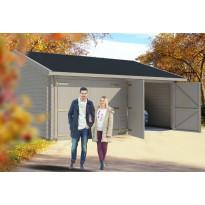 Autotalli Luoman Lillevilla Garage 24 Kiiminki 32,5m² kaksi autopaikkaa