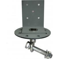 Lattakiinnike Lektar L-kulmalla, vaakajuoksulle, 160/6mm