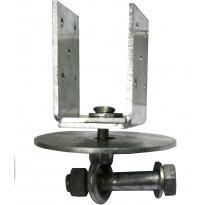 U-pilarikiinnike Lektar, säädettävä, 45-90x95/70x4mm