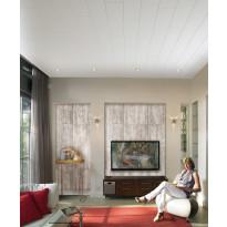 Katto- ja seinäpaneeli Easy Panel UNI-WHITE, MDF 2,08m2/pkt, valkoinen