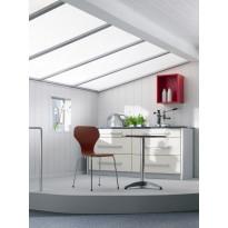 Sisustuspaneeli Easy Panel Edelweiss Valkosaarni, MDF 2,08m²/pkt, valkoinen puunsyykuvio