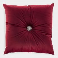 Samettityyny Lennol Meela, koristenapilla, 50x50cm, punainen