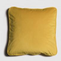 Samettityyny Lennol Melanie, 50x50cm, keltainen