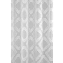 Sivuverho Lennol Nella siksak, 140x260cm, valkoinen, purjerenkain