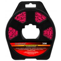 Yleisköysi ProMaster PES, 5 mm x 30 m pinkki/musta