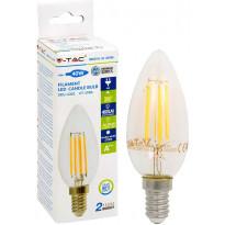 LED-polttimo V-TAC Candle 4W E14 2700 K, 400 lm, filamentti