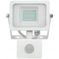LED-valonheitin V-TAC PIR 10W 4000 K, 850 lm, liiketunnistimella, valkoinen