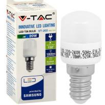 LED-jääkaappilamppu V-TAC, 2W, E14, 3000K