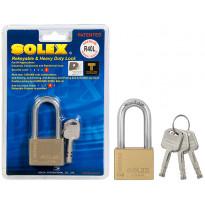 Riippulukko Solex, 60mm, HD, messinki, pitkä
