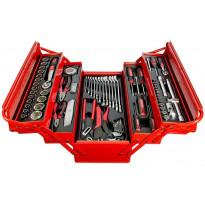 """Työkalupakki+työkalut AmPro, 1/4"""" 1/2"""", 76-osainen"""