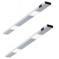 LED-kaappivalaisinsetti Limente Ziro-IR, 2 X 3.6W, pinta-asennettava, alulook
