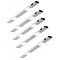 LED-kaappivalaisinsetti Limente Ziro-IR, 5 X 3.6W, pinta-asennettava, alulook