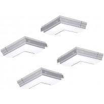 Kulmapalat Limente LED-Slim 90°, 4 kpl, 4000 K (2 x oikea, 2 x vasen)