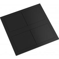 Pistorasia Limente Desk-2 240V IP44, 40x117x117mm, mattamusta
