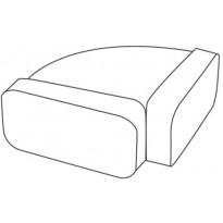 Suorakaidehormin vaakamutka Falmec, 220x90 mm