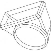 Suorakaidehormin muhvi Falmec, pyörä/suorakaide, Ø150/220x90 mm