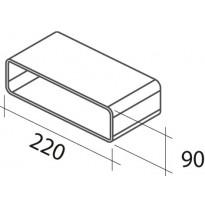 Suorakaidehormin muhvi Falmec, 220x90 mm