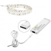 LED-nauha Limente 2m + virtalähde, IP44, 24V, 4000K