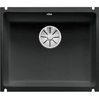 Keittiöallas Blanco Subline 500-U, Ceramic, alta kiinnitettävä, musta, Verkkokaupan poistotuote