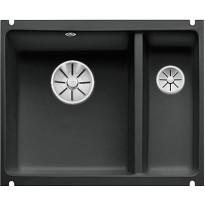 Keittiöallas Blanco Subline 350/150-U, Ceramic, alta kiinnitettävä, musta