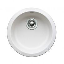 Keittiöallas Blancorondo Ø 450 mm Silgranit valkoinen