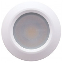 LED-alasvalo LedStore Round 023S, 9W, IP54, 4000K, himmennettävä, hopea