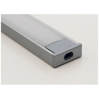 Alumiiniprofiili LedStore LED-valonauhalle, 2500mm, pinta-asennettava